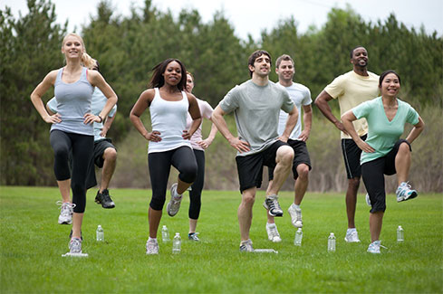People Engaging in Physical Activity