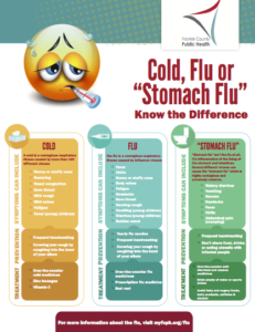 Cold, Flu or Stomach Flu Flier
